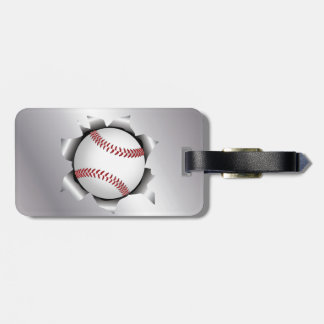 baseball thru metal sheet luggage tag