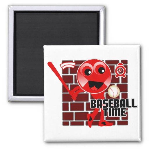 Baseball Time Magnet