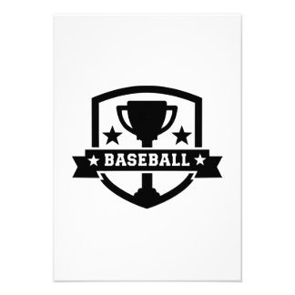 Baseball trophy champion custom announcements