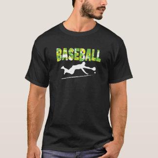 Baseball tshirt - Diving play - Bright yellows
