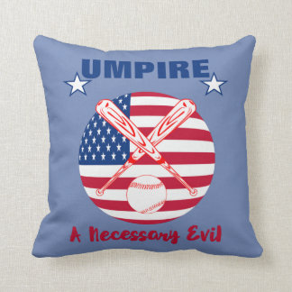 Baseball Umpire Funny Sports Quote Text Graphic Cushion