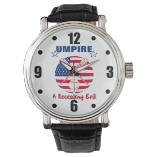 Baseball Umpire Funny Sports Quote Text Graphic Watch