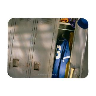 Baseball uniform and equipment in locker magnet