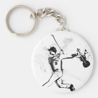 Baseball Violinist Key Ring