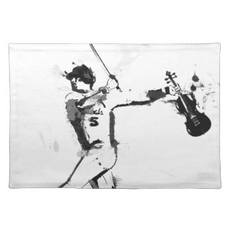 Baseball Violinist Placemat