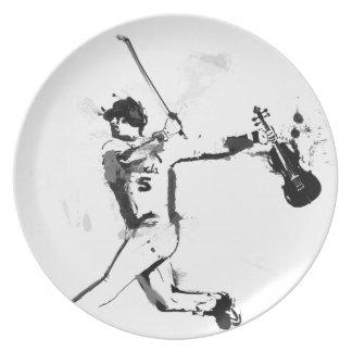 Baseball Violinist Plate