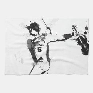 Baseball Violinist Tea Towel