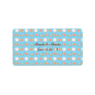Baseball wedding favors address label