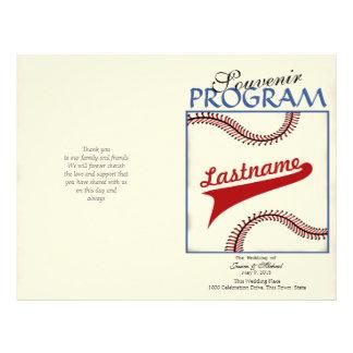 Baseball Wedding Program Flyer