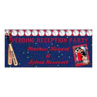 Baseball Wedding Reception Invite-Custom HOWARD Card