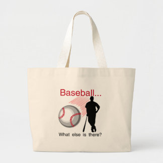 Baseball What Else T-shirts and Gifts Large Tote Bag