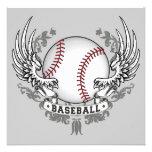 Baseball Wings Invitation