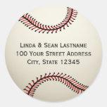 Baseball with Address Round Sticker