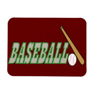 Baseball with Bat n Ball Magnets