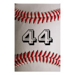 Baseball with customisable number