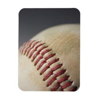 Baseball with impact mark. magnets