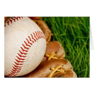 Baseball with Mitt Card