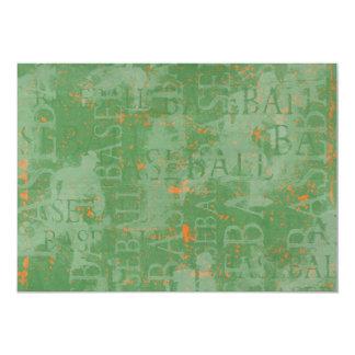 BASEBALL WORDS TYPOGRAPHY DIGITAL ART GRAPHICS WAL 13 CM X 18 CM INVITATION CARD