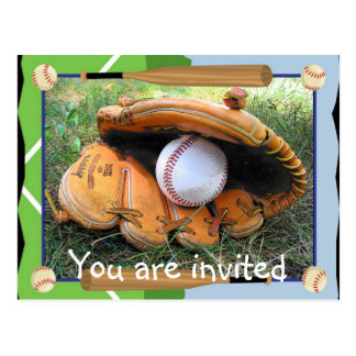 Baseball You are Invited Postcards