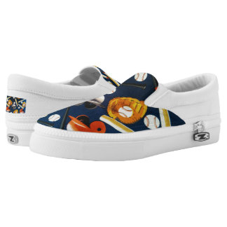 """Baseball"" Zipz Slip On Shoes, US Men/Women Printed Shoes"