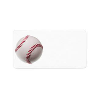 Baseballs - Customise Baseball Background Template Address Label