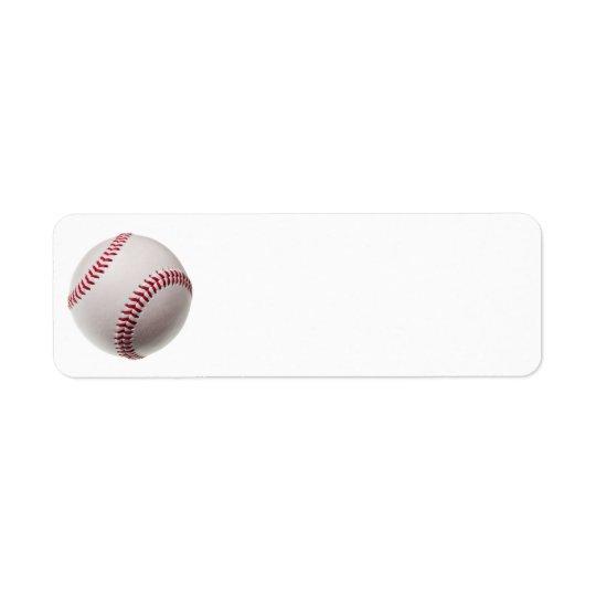 Baseballs - Customise Baseball Background Template Return Address Label