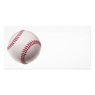 Baseballs - Customize Baseball Background Template Photo Cards