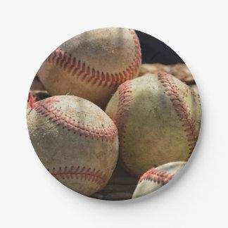 Baseballs Paper Plate