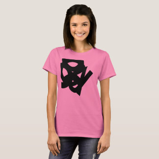 based abstract drawing in letters T-Shirt