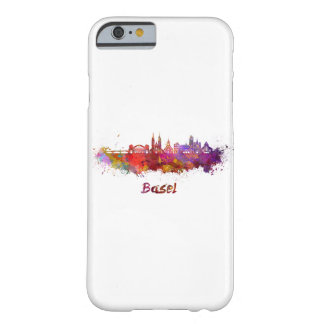 Basel skyline in watercolor barely there iPhone 6 case