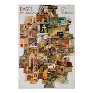 Basel. Switzerland, City of museums,Travel Poster