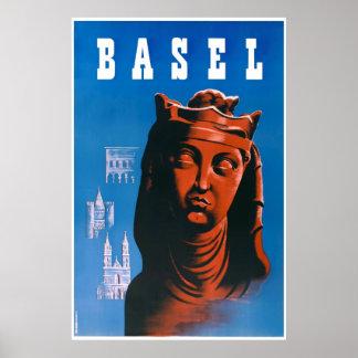 Basel, Switzerland, Travel Poster