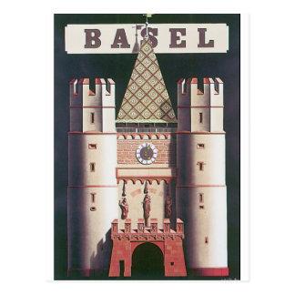 Basel Vintage Travel Poster Postcard