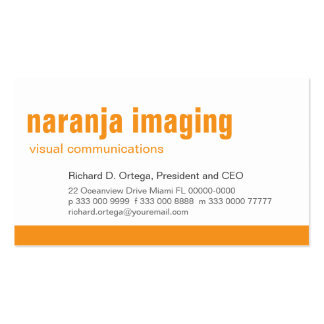 Baseline Panel Orange Business Card