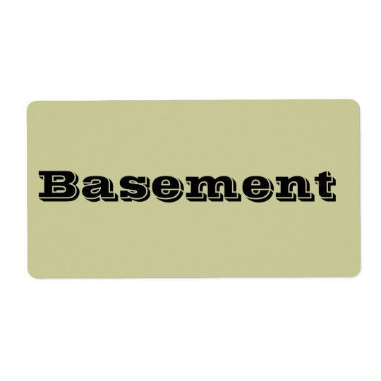 Basement Moving Labels in Cement Beige
