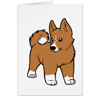 basenji cartoon card