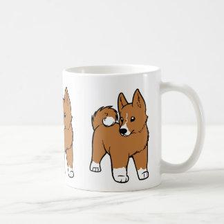basenji cartoon coffee mug