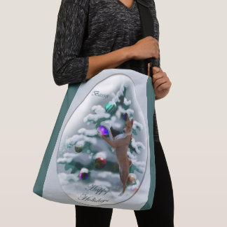 Basenji Christmas Crossbody Bag