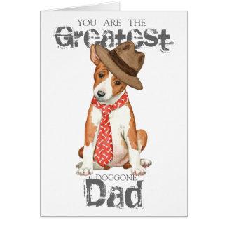 Basenji Dad Card