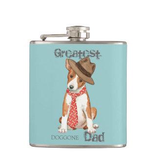 Basenji Dad Hip Flask