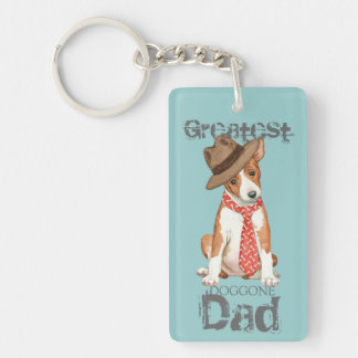 Basenji Dad Key Ring