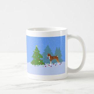 Basenji Decorating Tree in the Forest Coffee Mug