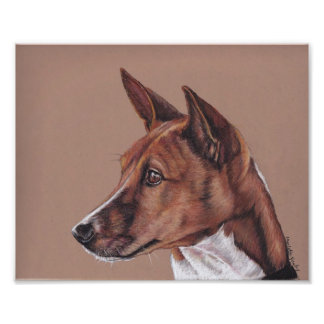 Basenji Dog Art Photo Print