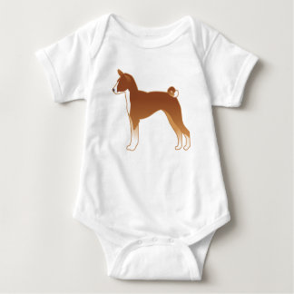 Basenji Dog Breed Illustration Silhouette Baby Bodysuit