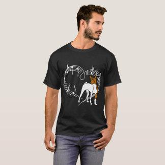 Basenji Dog Love Rhythm Heartbeats Tshirt