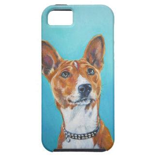 Basenji dog portrait iphone Case