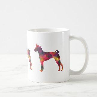 Basenji Geometric Pattern Silhouette Multi Coffee Mug