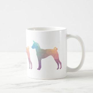 Basenji Geometric Pattern Silhouette Pastel Coffee Mug