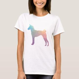 Basenji Geometric Pattern Silhouette Pastel T-Shirt