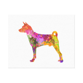 Basenji in watercolor 2 canvas print